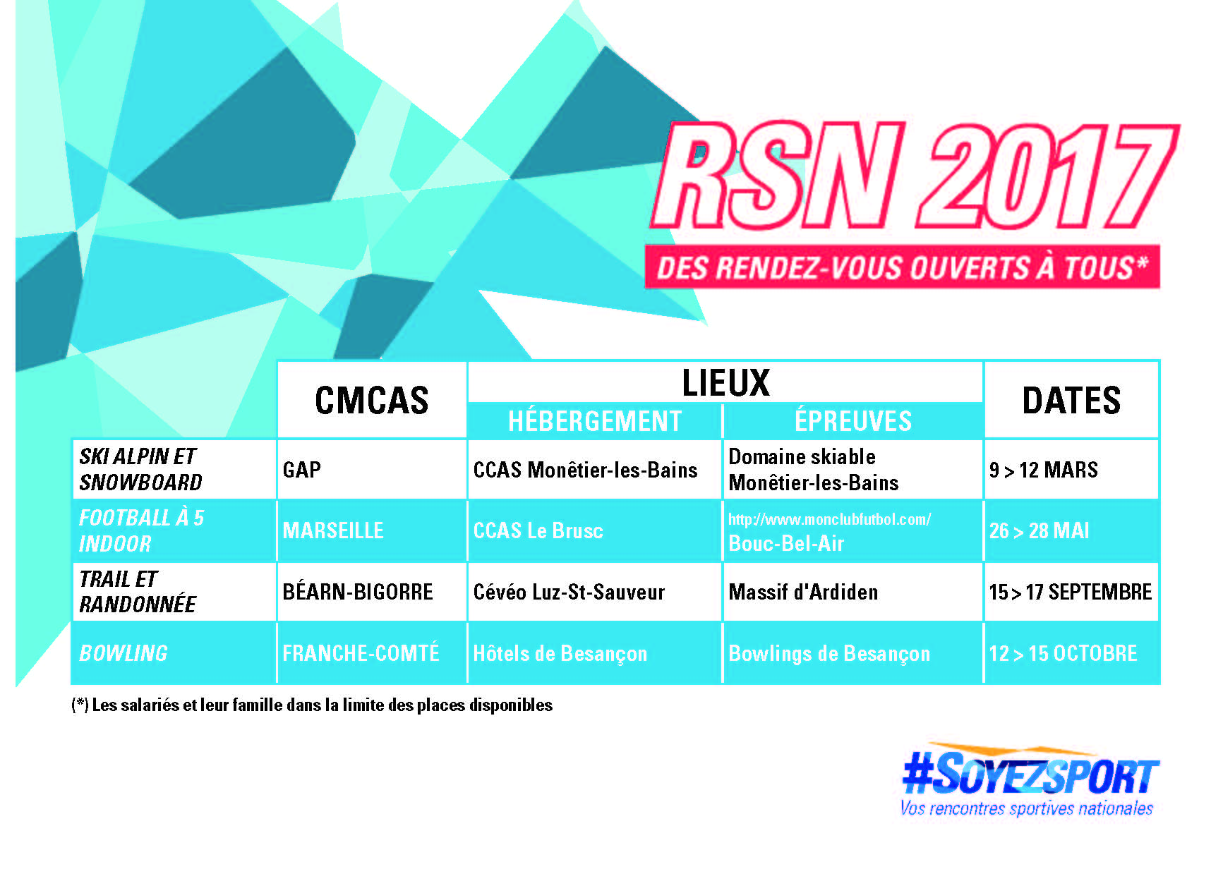 Rencontres sportives nationales ccas